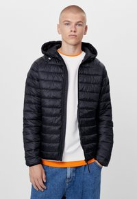 Bershka - MIT KAPUZE - Light jacket - black - 0