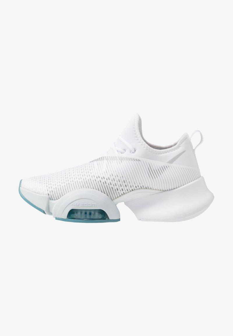 Nike Performance - AIR ZOOM SUPERREP - Sports shoes - white/metallic silver/pure platinum/cerulean