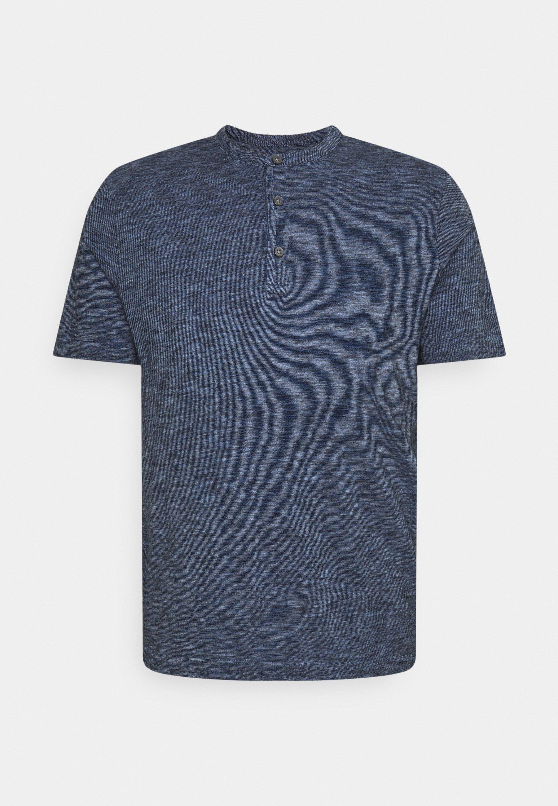 Uomo SOFTWASH SLUB HENLEY - T-shirt con stampa