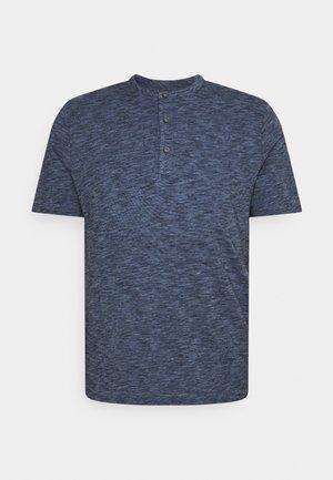 SOFTWASH SLUB HENLEY - T-Shirt print - navy neps