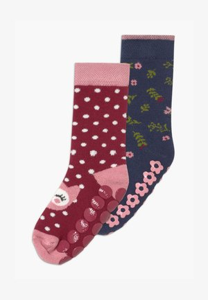 OWL/FLOWERS 2 PACK - Socks - rhododendron/tinte
