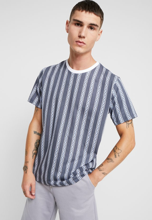 CHAIN - T-shirt con stampa - blue