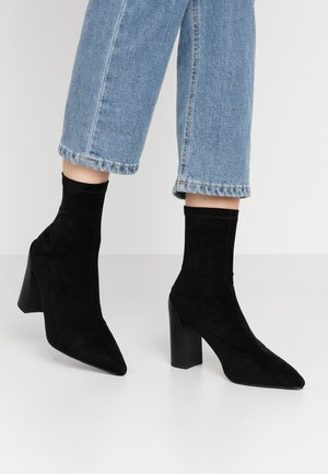 VANESSA - High heeled ankle boots - black