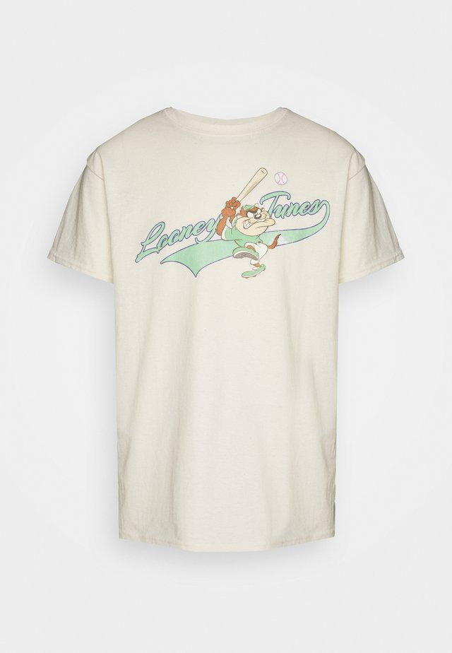 LOONEY TUNES TAZ BASEBALL GRAPHIC - T-shirt con stampa - sand