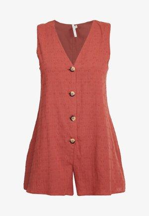WILD TROPICS TEXTURED PLAYSUIT - Pyjamas - rust