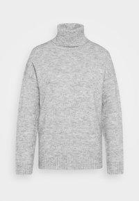 TURTLE NECK- WOOL BLEND - Svetr - mottled light grey