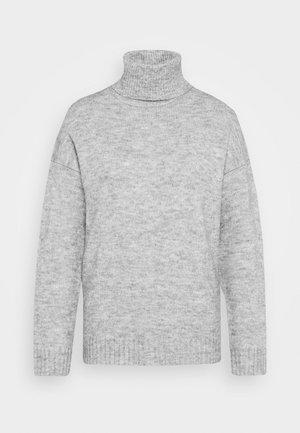 TURTLE NECK- WOOL BLEND - Jumper - mottled light grey