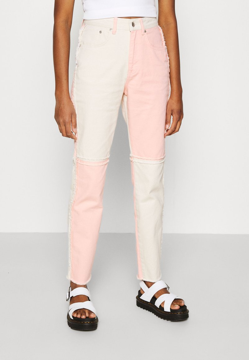 The Ragged Priest - CARNIVAL  - Džíny Straight Fit - pink/beige