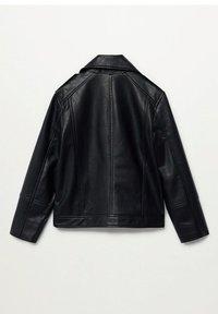 Mango - PERFECTO - Faux leather jacket - schwarz - 1