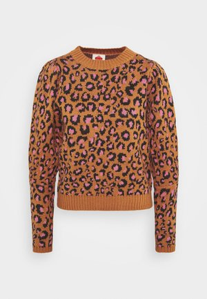 LEOPARD POP CROPPED  - Jumper - multi