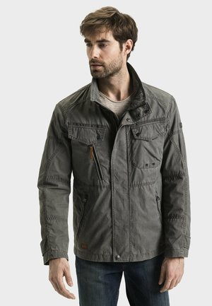 MIT STEHKRAGEN - Summer jacket - grey