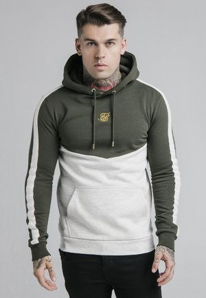 CUT AND SEW OVERHEAD HOODIE - Huppari - khaki/snow marl