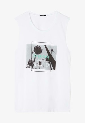 Top - white tropical print