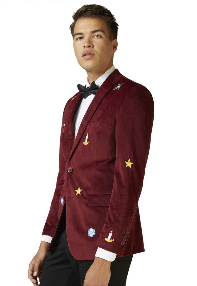 CHRISTMAS - X-MAS ICONS - - Blazer - burgundy
