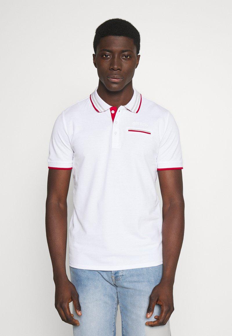 Guess - LES SS POLO - Koszulka polo - blanc pur