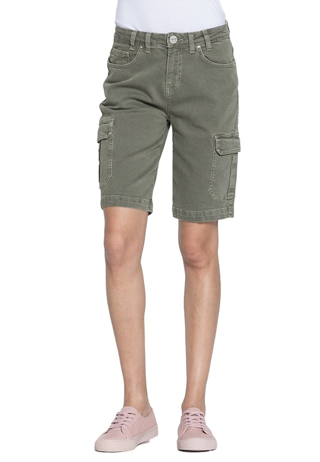 Shorts di jeans - verde militare