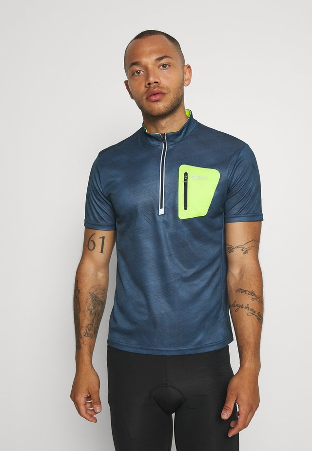 MAN FREE BIKE - Camiseta estampada - plutone/cosmo