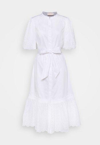 BRODERIE DRESS - Shirt dress - white