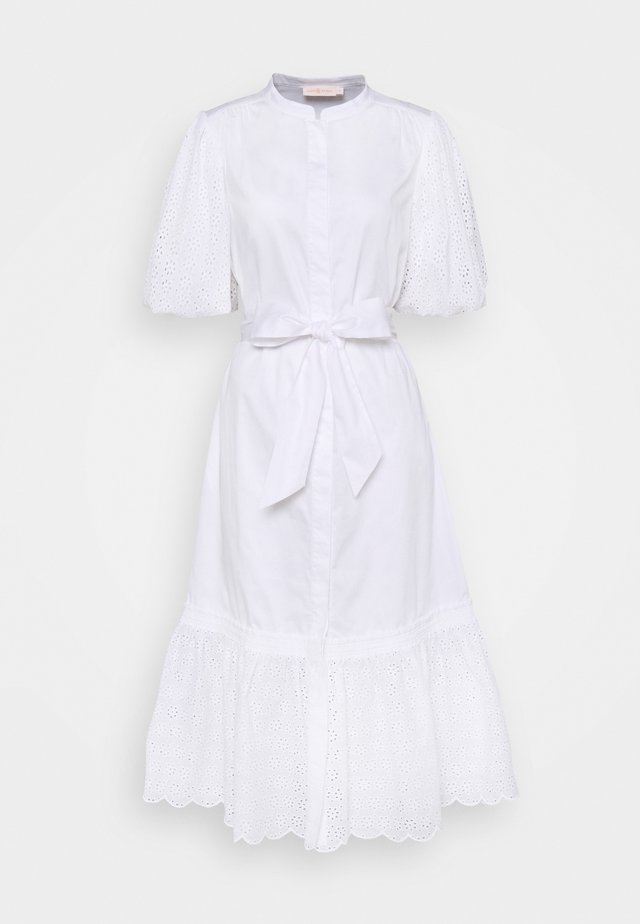 BRODERIE DRESS - Blousejurk - white
