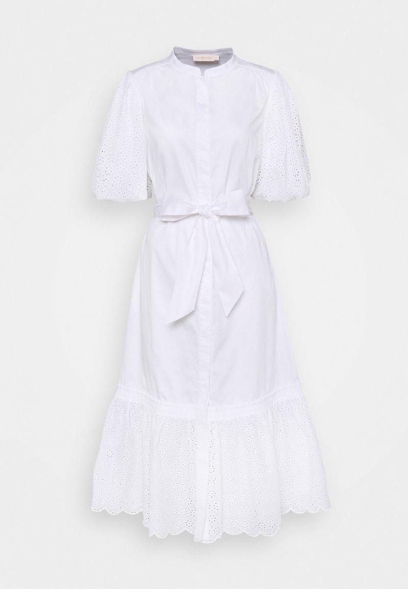 Tory Burch - BRODERIE DRESS - Shirt dress - white