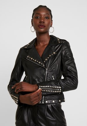 SKYLAR - Leather jacket - black
