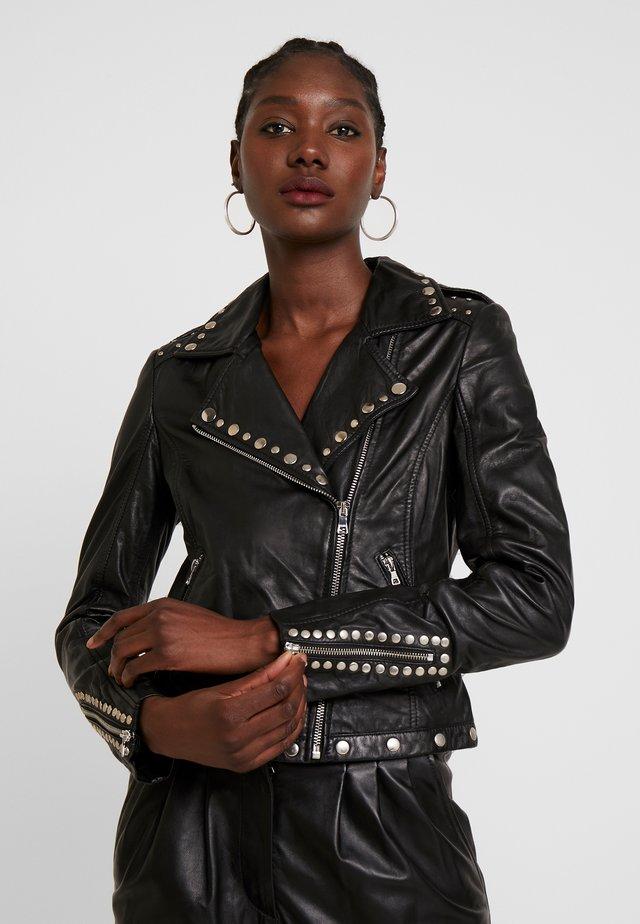 SKYLAR - Leren jas - black