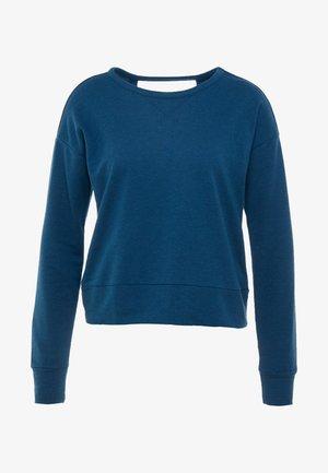 YOGA WRAP COVERUP - Sweatshirts - valerian blue/industrial blue