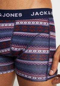 Jack & Jones - JACSHELBY TRUNKS 3 PACK - Culotte - bonnie blue/black/rosin - 4