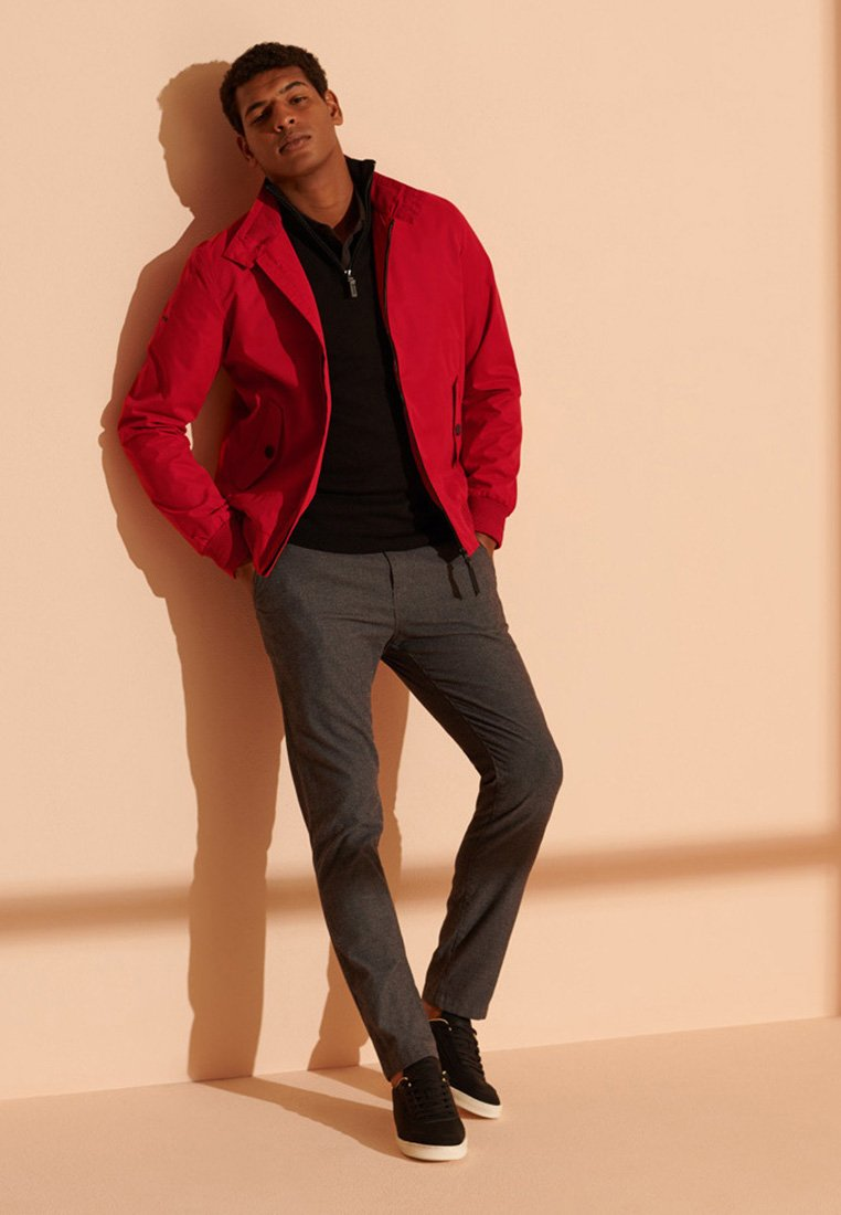 Superdry - HARRINGTON - Summer jacket - red