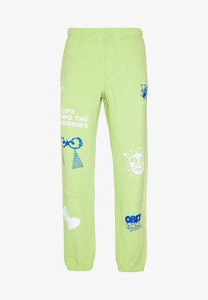 CHOSEN ALL EYEZ - Tracksuit bottoms - key lime
