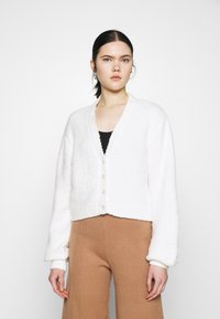 Nly by Nelly - CROPPED FUZZY  - Cardigan - white - 0