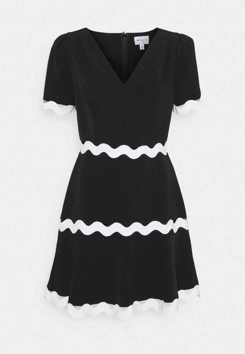 Milly - JOSEPHINE CADY TRIM DRESS - Robe d'été - black