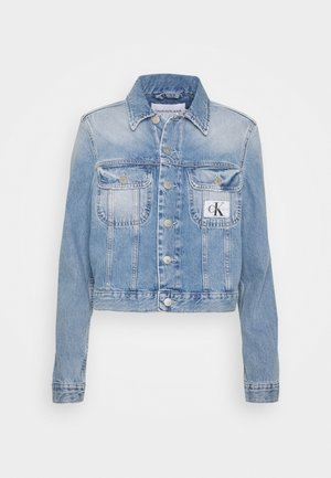 CROP TRUCKER - Jeansjakke - light blue
