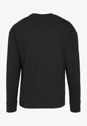 BOXY BIG CONTRAST POCKET - Long sleeved top - black