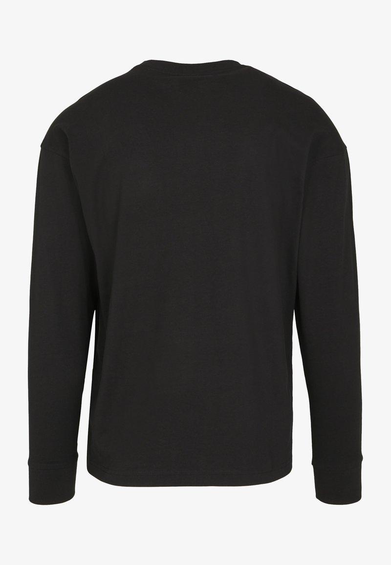 Urban Classics - BOXY BIG CONTRAST POCKET - Long sleeved top - black