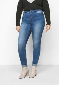 JUNAROSE - by VERO MODA - JRZEROTANJA  - Jeans Skinny Fit - medium blue denim - 0