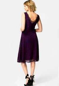 HotSquash - FLORAL  - Cocktail dress / Party dress - dark purple - 1