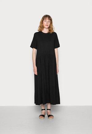 DRESS  RUFFLES - Jersey dress - black