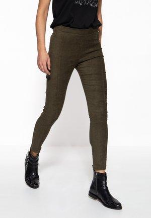 SLIM FIT - Trousers - olivgrün