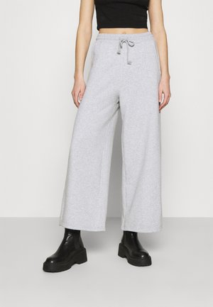 SUPER WIDE LEG - Pantalones deportivos - heather gray