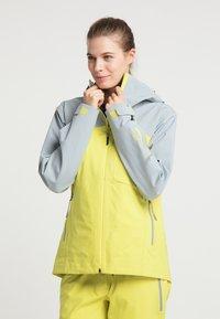 PYUA - Waterproof jacket - french grey - lemon yellow - 0