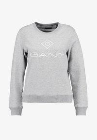 GANT - LOCK UP C-NECK - Sweatshirt - grey melange - 4