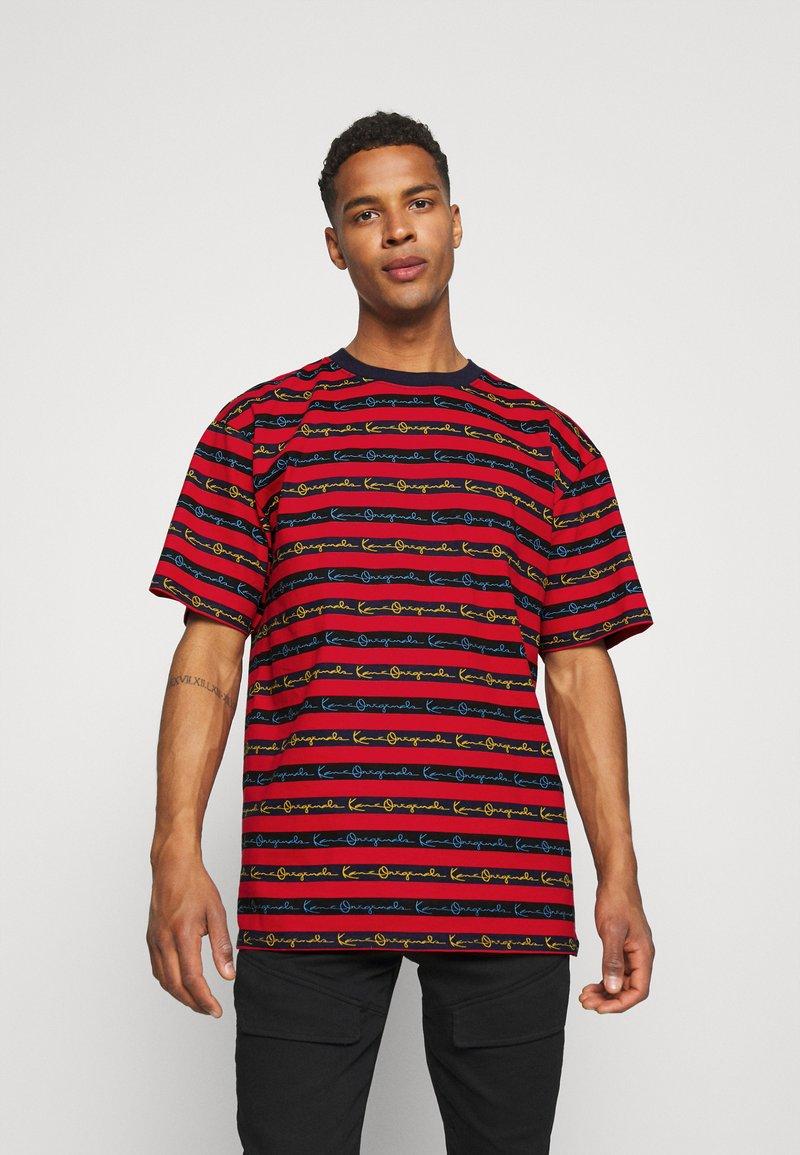 Karl Kani - STRIPE TEE - T-shirt con stampa - red