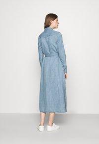 Polo Ralph Lauren - LONG SLEEVE DAY DRESS - Denim dress - leaton wash - 2