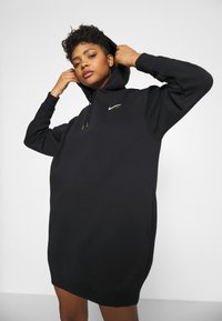 Nike Sportswear - HOODIE DRESS - Day dress - black - 3