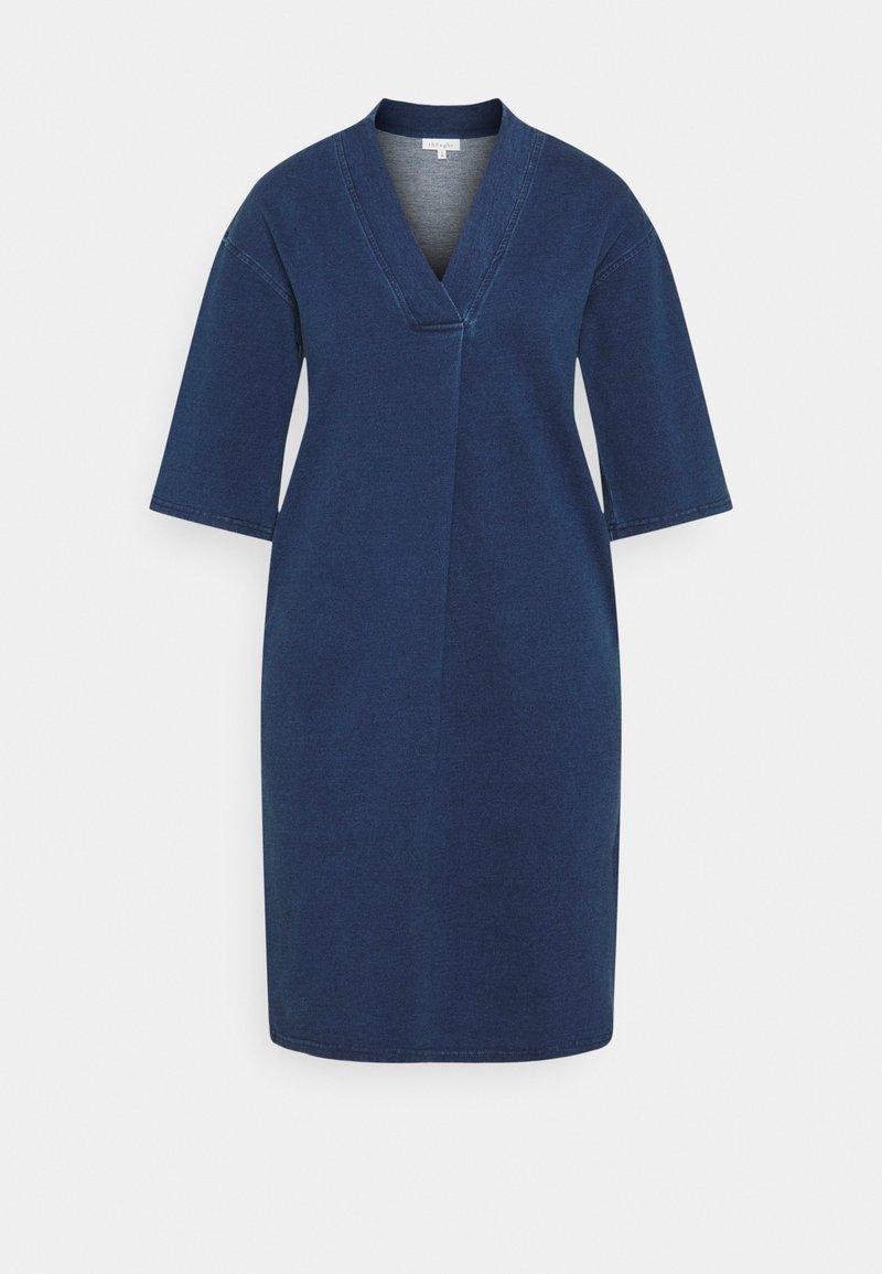 Thought - SKYLAR LOOPBACK DRESS - Žerzejové šaty - indigo blue