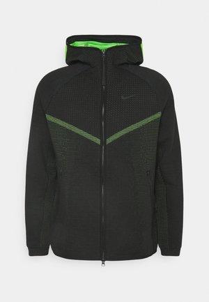 HOODIE  - Zip-up hoodie - black/mean green/black