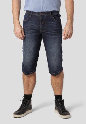 BONDO - Denim shorts - dk. blue moon