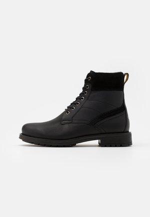 MONT - Šněrovací kotníkové boty - black