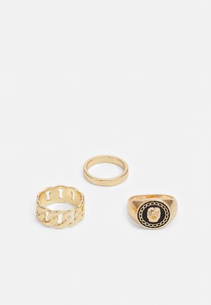 WOE 3 PACK - Ring - black/gold-coloured
